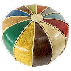 Vintage Decorative Vinyl Colorful Round Pillow