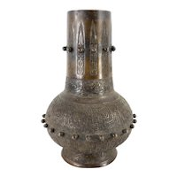 Japanese Decorative Bronze Vase in Archaic Chinese Style