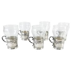 "Set of 6 Christofle German Silver ""Hot Toddy"" Glasses"