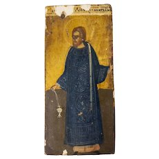 Greek or Russian Wooden Religious Icon