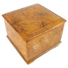 Small Russian Burlwood Trinket Box