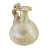Early Ancient Roman Iridescent Glass Jug