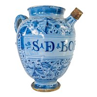 Italain Majolica Maiolica Wet Drug Pharmacy Jar