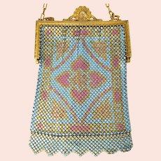 "Whiting and Davis Mesh Art Nouveau 'Elsah"" Purse Handbag"