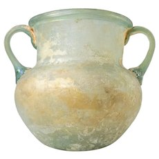 Early Ancient Roman Iridescent Glass Vase or Jug