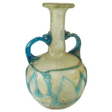 Early Ancient Roman Two Color Glass Bottle