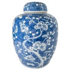 Large Chinese Kangxi Style Ginger Jar