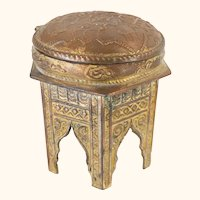 Gilt Copper Middle Eastern Arabic Inspired Jewelry Box