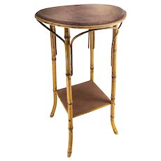 Decorative Bamboo Side Table or Plant Stand