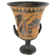 Neo-Classical Grand Tour Roman Krater Pottery Vase