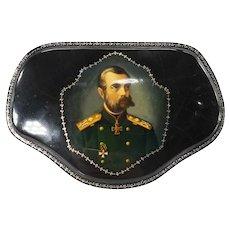 Russian Fedoskino School Lacquer Box