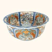 Japanese Imari Porcelain Centerpiece Bowl