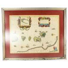 Vintage Reproduction Map of the Moluccan Spice Islands
