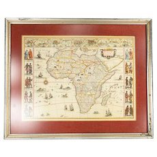 Vintage Reproduction Map of Africa