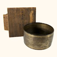 Fine Japanese Gilt Bronze Signed Bowl with Wooden Box