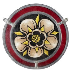Decorative Floral Stained Glass Window Decoration