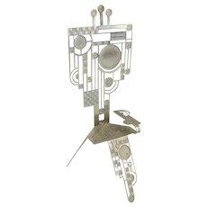 Miniature Bauhaus Post Modern Metal Chair by Christopher Royal