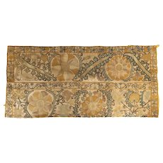 Central Asian Suzani or Turkish Table Cover Fragment