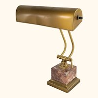 Brass and Marble Table Lamp by House of Troy