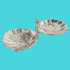 English Sheffield Silver Plate Shell Crustacean Dish