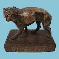 Antique 19th Century Fine American Bulldog Bronze Statue