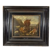 Antique Old Master Continental School Oil Painting Unsigned
