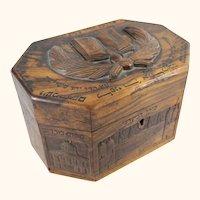 Souvenir Olive Wood Tea Caddy from Jerusalem