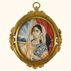 English Indian Colonial Miniature Painting