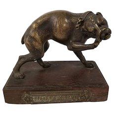 Antique 19th Century Fine American or Old English Bulldog Bronze Statue