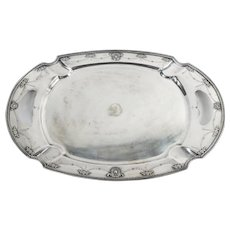 English Silverplated Heavy Adam Style Serving Tray