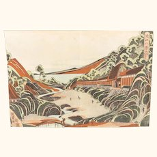 Rare Japanese Woodblock Print by Utagawa Kunitora