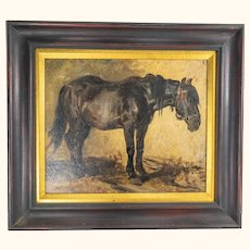 Oil Painting of a Work Horse by Wilhelm William Hahn