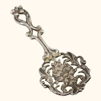 English Birmingham Sterling Silver 1897 Tea Caddy Spoon