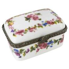 Porcelain Transfer Decorated Trinket Pill Box
