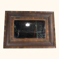 Empire Style Ogee Rosewood Veneered Mirror Looking Glass