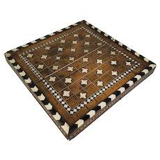 Antique Italian Chess Backgammon Game Board Certosina or Embriachi Style