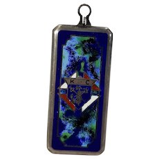 Sterling Silver and Enamel Knights of Columbus Pendant