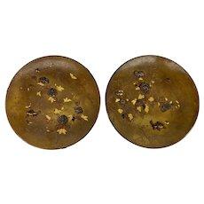 Antique Japanese Mixed Metal Decorative Plates