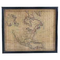 Antique Hand Colored Map of North America Thomas Jefferys