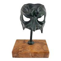 Vintage Decorative Bronze Venetian Mask