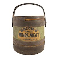 Antique Primitive Folk Art Americana Country Store Mince Meat Furkin