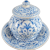 Antique Dutch Delft Blue and White Covered Bowl Signed