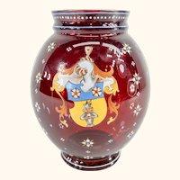 Antique Bohemian or Bavarian Moser Lobmeyr Enameled Art Glass