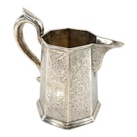 Antique New York City Coin Silver Creamer Pitcher