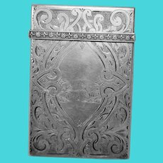 Antique Coin Silver Card Case by Albert Coles of New York