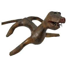 Antique Folk Art Americana Carved Driftwood Animal