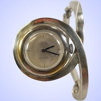 Modernist Josep Maria Puig Doria Sterling Silver Watch Bracelet