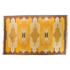 Scandinavian 20th century modern rug by Ingegerd Silow.
