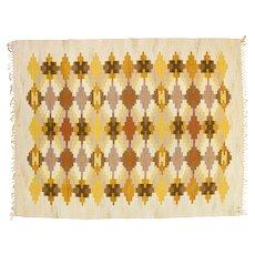 Scandinavian mid-century modern rug. Björkered by Judith Johansson. 270 X 200 cm (106.3 x 78.74 in)