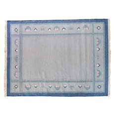 Scandinavian vintage rug, signed.
